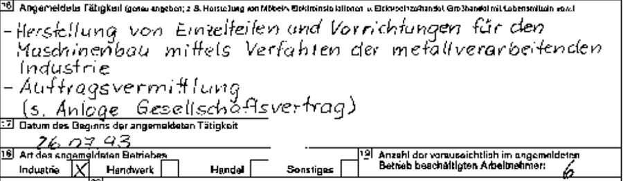 MEVOR Metallbearbeitung und Vorrichtungsbau GmbH - Anmeldeschein
