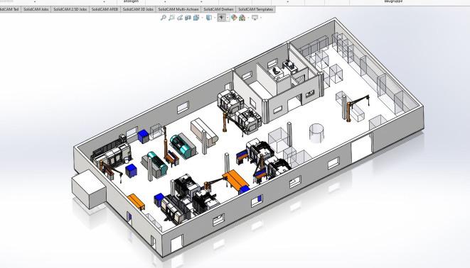 Mevor GmbH - 3D-Ansicht der Produktionshalle